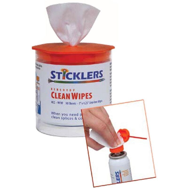 Chusteczki do czyszczenia światłowodów SticklersTM CleanWipes